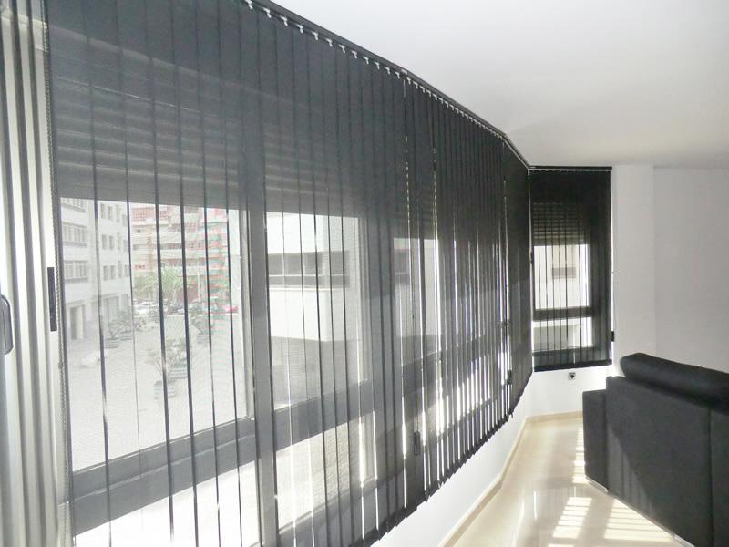 Cortina vertical cortinas murcia hoku home - Cortinas verticales para oficinas ...