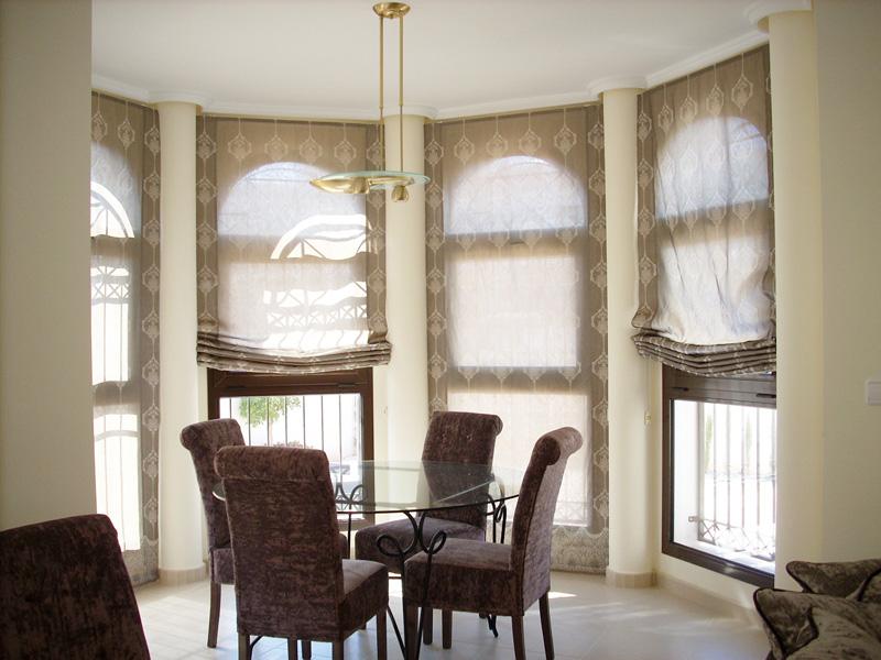 Estores paqueto y plegables cortinas murcia hoku home - Combinar cortinas y estores ...